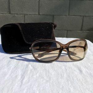 Tom Ford Jennifer Tortoise Sunglasses